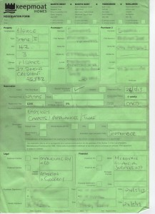 Original Reservation Form created on 24/05/2013. There is a receipt for payment of the reservation fee at 10:30.